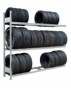 Räder-/Reifenregal, Anbauregal, H3500xB2250xT400 mm, Fachlast 400 kg, Feldlast 2000 kg, verzinkt
