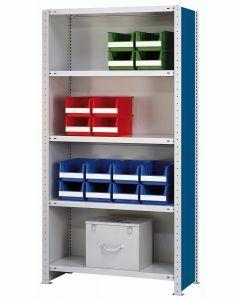 Vollblech-Seitenwand, Höhe 1050mm, Tiefe 300mm, RAL 5010 enzianblau