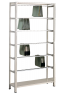 Pendelhefteregal Schraubsystem, Grundregal, Elba / Leitz, H2300xB1000xT350 mm, 7 Pendelstangen, 45 kg Fachlast, verzinkt / RAL 7035 lichtgrau