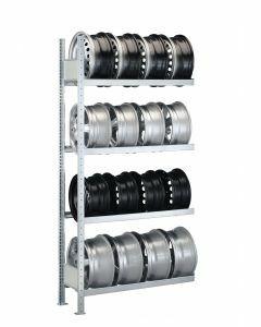 Felgenregal, Anbauregal, H2000xB1500xT300 mm, Fachlast 150 kg, Feldlast 1300 kg, verzinkt