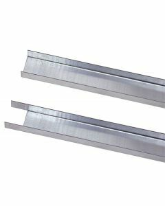 Füll-Leiste - für Doppelregale, Länge 1.300mm, für Fachbodenträger, RAL 7035 lichtgrau
