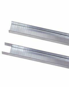 Füll-Leiste - für Doppelregale, Länge 750mm, für Längenriegel, RAL 7035 lichtgrau