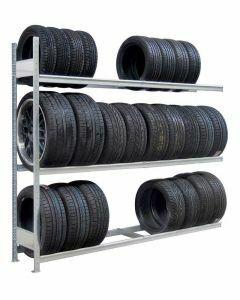 Räder-/Reifenregal, Anbauregal, H2000xB1500xT400 mm, Fachlast 400 kg, Feldlast 1200 kg, verzinkt