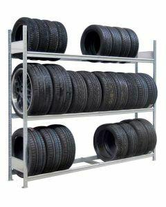 Räder-/Reifenregal, Grundregal, H4500xB1500xT400 mm, Fachlast 400 kg, Feldlast 2400 kg, verzinkt