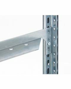 Längenriegel für Fachbodenregale, 40 mm Kante, 750 mm Länge, verzinkt