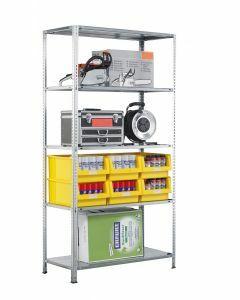 Fachbodenregal Schraubsystem, Grundregal, H2000xB1000xT500, 5 Fachböden, Fachlast 150kg, sendzimirverzinkt