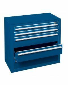 Schubladenblock, H400xB1000xT500mm, RAL 5010 enzianblau