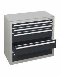 Schubladenblock, H400xB1000xT500mm, RAL 7016 anthrazit