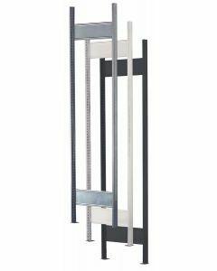 MULTIplus T-Profil-Rahmen, H2000xT600mm, RAL 7035 lichtgrau