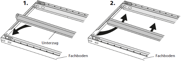 Illustration des Einbaus eines Verstärkungsunterzuges